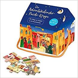Die Adventskalender-Puzzle-Krippe