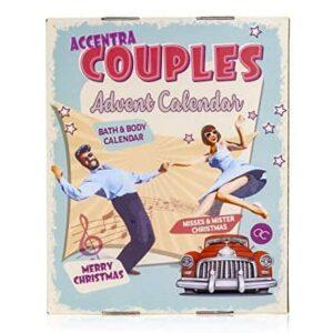 Accentra Adventskalender Retro Couples Paare Mit 24 Bade-, Körperpflege Und Accessoires Produkten Für Eine Abwechslungsreiche Und Verwöhnende Adventszeit im Rockabilly-Style
