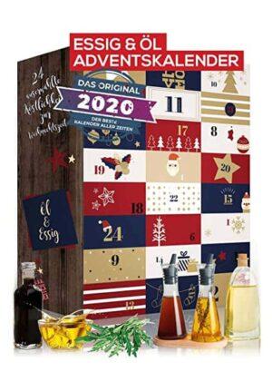 Öl & Essig Adventskalender 2020 I aromatischer Weihnachtskalender Oel Essig mit 24 Überraschungen. Ausgefallenes Delikatessen Geschenkset für Hobbyköche und Genießer 23x12ml +1x20ml I Balsamico