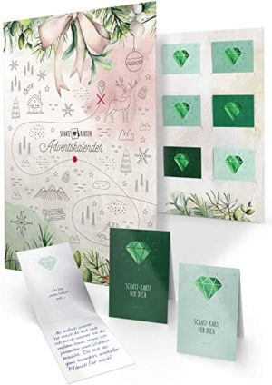 Adventskalender mit Karten zum Ausfüllen als Geschenk für Erwachsene, 24 persönliche Botschaften, DIY-Set, Mappe zum Befüllen und Verschenken für Mutter Vater Schwester Bruder Oma (Edition Familie)