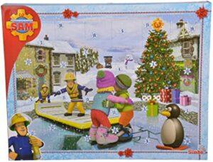 Simba 109251060 Feuerwehrmann Sam Adventskalender 2020, 24 Überraschungen, mit Weihnachtsgeschichte, ab 3 Jahren