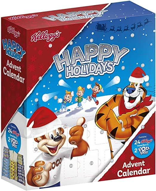 Whisper Kellogg's Adventskalender Happy Holidays – 24 Müsliriegel und 2 Pop-Tarts