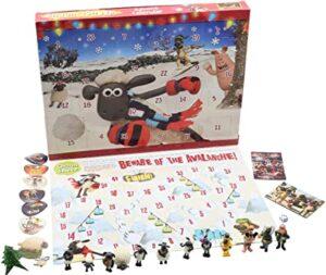 Weihnachts Adventskalender Shaun The Sheep Wallace and Gromit Enthalt Figuren Puzzles Brettspiel und Aufkleber Kalender für Kinder – Shaun das Schaf – detail 2