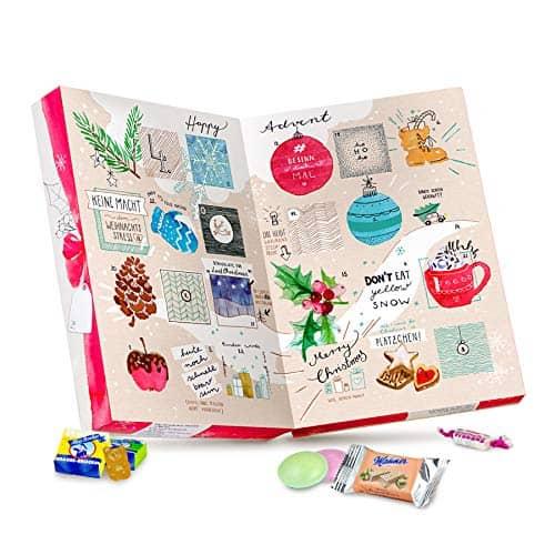 Adventskalender mit 24 veganen Süßigkeiten