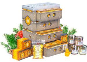 Honig Adventskalender in Bienenkasten-Optik
