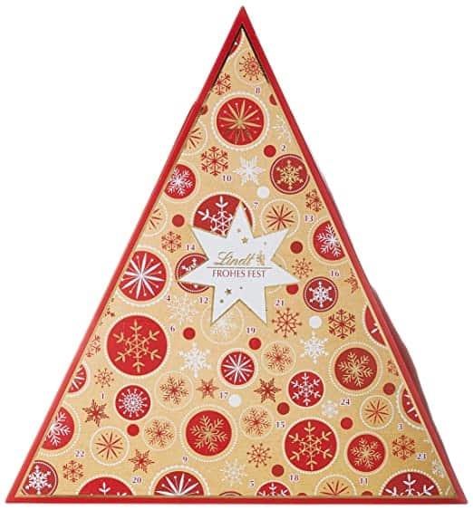 Lindt Tannenbaum Adventskalender mit Schneeflocke