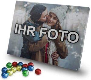 printplanet - Adventskalender mit eigenem Foto Bedrucken Lassen - Weihnachtskalender mit Schokolade mit Foto individuell Gestalten