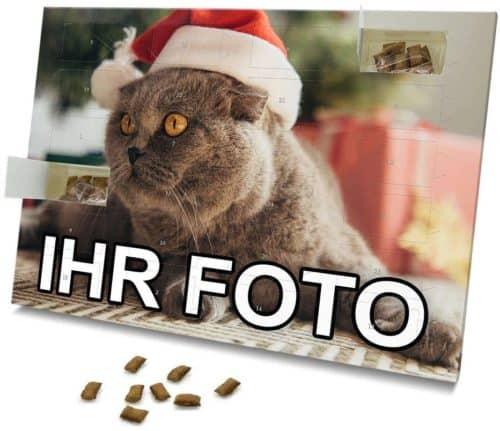 Katzen-Adventskalender mit eigenem Foto personalisiert