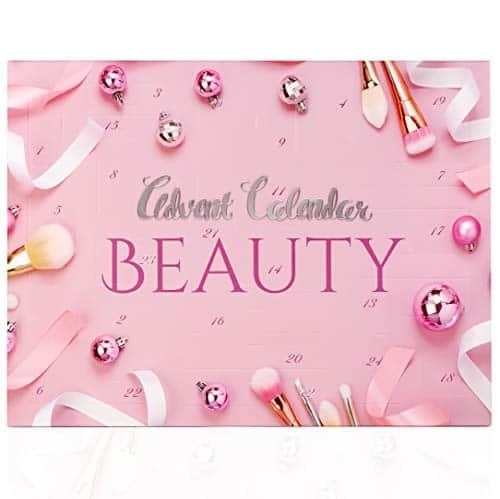 Beauty Adventskalender MakeUp Kosmetik für Frauen - Pink Pastell - Damen Schminke Schminkset