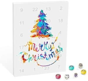 VALIOSA Merry Christmas Mode-Schmuck Adventskalender mit Halskette