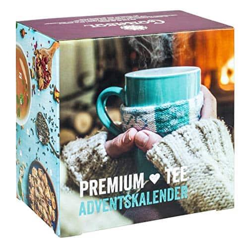Premium Tee-Adventskalender 2020 XL, 24 weihnachtliche Gourmet-Teesorten