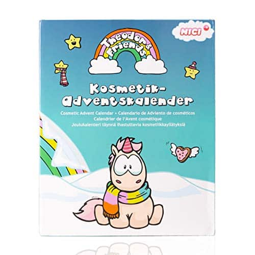 Accentra Einhorn Adventskalender Beauty für Mädchen & Damen, Schminke