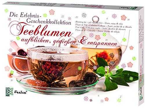 Feelino Teeblumen Geschenk-Kollektion mit 24 verschiedenen Teerosen, Teeblüten-Probierset