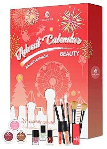 Beauty Adventskalender 2020, Kosmetik Geschenkset für Mädchen Frauen Damen Erwachsene Paare