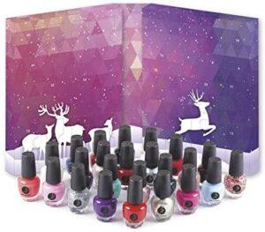 2K Beauty Nagelack Adventskalender Nail Varnish (24 x 4ml) Adventkalender für Frauen