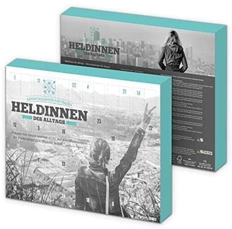 itenga Adventskalender für Frauen Heldinnen des Alltags Bergmotiv grau/schwarz