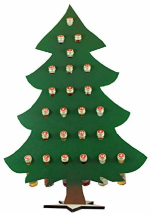Adventskalender Tannenbaum mit 24 Flaschen gefüllt mit hochwertigen Likören nachhaltig
