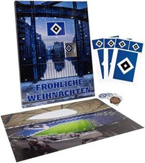 1. Bundesliga Hamburger SV Premium Adventskalender mit Poster + Original Lizenz-Aufkleber 9 Stück Weihnachtskalender HSV