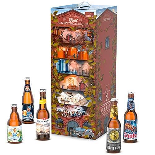 Kalea Bier-Adventskalender 2020 | Edition Brauwerk | 24 deutsche Bier-Spezialitäten | 24 x 0,33 l Flaschen