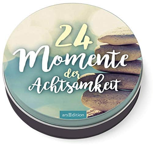 24 Momente der Achtsamkeit - Ein Adventskalender in der Dose mit 24 Anti-Stress-Kärtchen