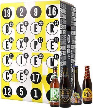 Bier Adventskalender 24 Flaschen verschiedene internationale Biere aus aller Welt als Geschenkbox (24 x 0,33l) | Geschenkidee für Männer | Probierpaket | Geburtstag