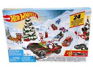 Hot Wheels FYN46 - Adventskalender 2019 mit 8 Autos und 16 Zubehörteilen, Spielzeug und Adventskalender Jungen ab 3 Jahren – Hot Wheels – detail 2