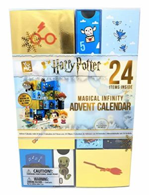 YuMe Maxx19136 Magical Advent Calendar Harry Potter Infinity Adventskalender mit 24 Schubfächern und kleinen Überraschungen, ca. 23 x 11 x 34 cm, Multi