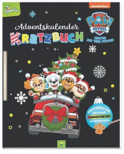 PAW Patrol Kratzbuch-Adventskalender