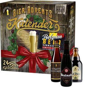 Bier-Adventkalender, 24 x 0,33 L Flaschen österreichische Bier-Spezialitäten und 1 Verkostungsglas, neue Bestückung 2020, perfekte Geschenkidee für Männer zur Vorweihnachtszeit