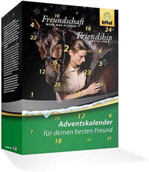 Effol Pferd Adventskalender 2020 - Wert 120 €, idealer Advent Kalender für Pferd & Reiter, Pferde Calender, 24 Pflege Produkte