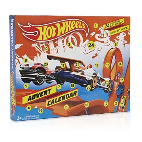 Hot Wheels Adventskalender mit Spielzeug Auto und Zubehör Weihnachtskalender Für Kinder Mädchen Jungen Mit Spielzeug Überraschung, Enthält 24 Überraschungen