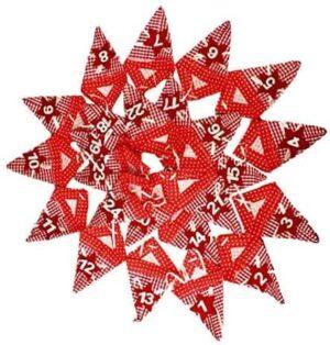 HAAC Adventskalender Advent Girlande mit 24 Tüten rot