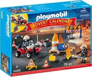 PLAYMOBIL 9486 Adventskalender Feuerwehreinsatz auf der Baustelle