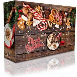 C&T Aroma Kaffee Adventskalender 2020 (Ganze Bohnen) | 24 Aromatisierte Kaffees - Flavoured Coffee | Viele leckere Sorten - Apfelstrudel, Karamell & Zimtschnecken | Weihnachtskalender für Erwachsene