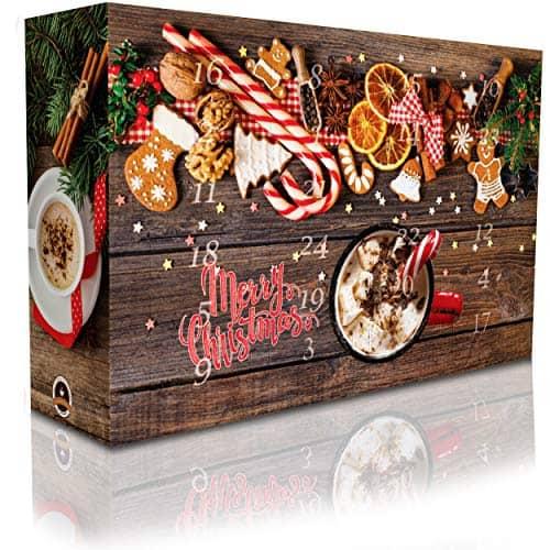 C&T Aroma Kaffee Adventskalender 2020 (Ganze Bohnen)   24 Aromatisierte Kaffees - Flavoured Coffee   Viele leckere Sorten - Apfelstrudel, Karamell & Zimtschnecken   Weihnachtskalender für Erwachsene