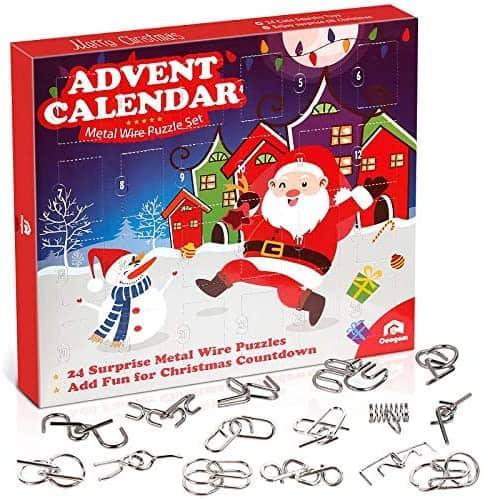 Coogam Adventskalender Metall-Puzzle-Set