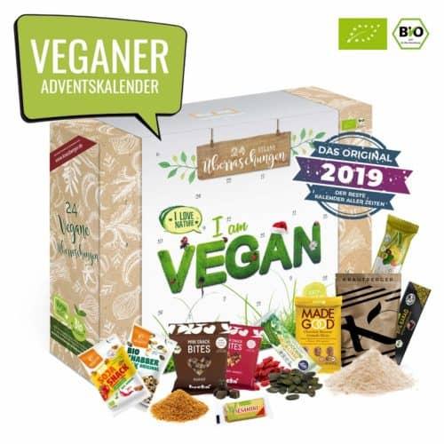 VEGAN Adventskalender I veganer Weihnachtskalender mit 24 tierfreien Produkten. Ausgefallener Adventskalender mit veganen Produkten