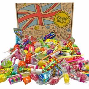 Heavenly Sweets 100% vegane Süssigkeiten-Box - Vegan, ohne Milch - Britische Auswahl an Millions, Swizzels, Herzen, Starburst