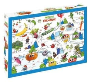 FRECHE FREUNDE Bio Adventskalender, Weihnachtskalender gefüllt mit Bio Kinder-Snacks & Spaß