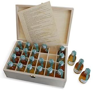 Adventskalender Whisky in der edlen Holz Geschenkbox