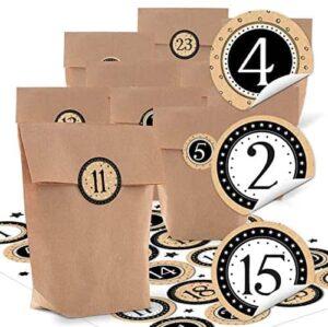 24 kleine Papier-Tüten zum Befüllen