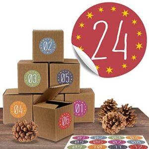 Adventskalender-Set mit 24 rustikalen Boxen ge 51RVYmcMooL. AC