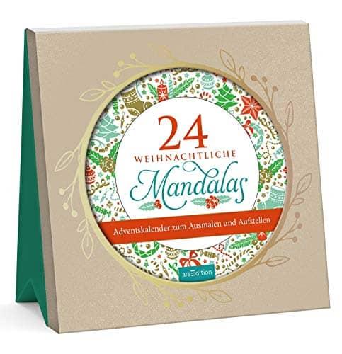 24 weihnachtliche Mandalas zum Ausmalen