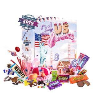 Adventskalender mit amerikanischen Süßigkeiten