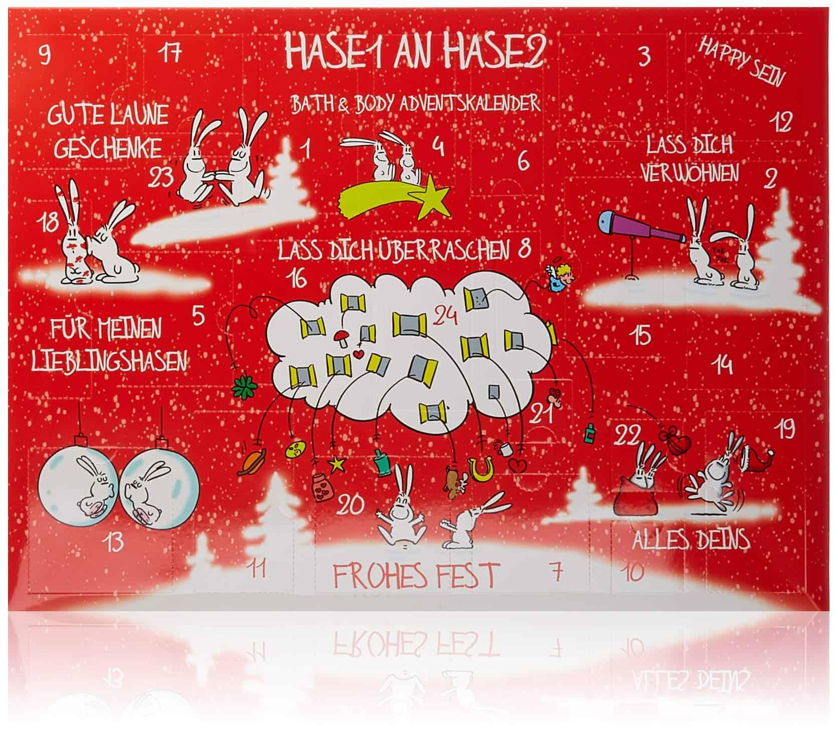 Accentra Adventskalender Bath & Body Hase1 an Hase2