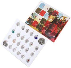 Cloodut Frauen Schmuck-Set,Weihnachten Adventskalender Geschenke Box