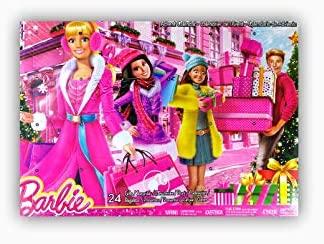 Barbie Advent Calendar with Barbie Accessories 24 Surprise Items incl Shoes Boots Purses Jewellery