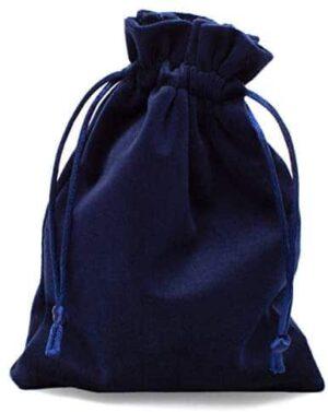 100% Mosel Geschenkbeutel Samt, 12 Stück in Nachtblau
