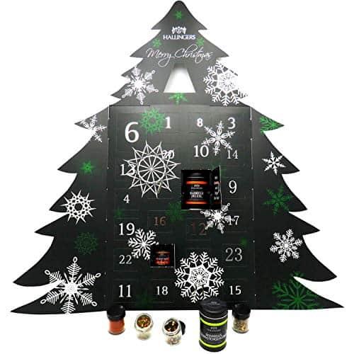Hallingers Riesiger 24 Gewürz-Adventskalender als Baum
