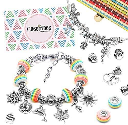 Cheer4bee Charm Armband Kit DIY - Geschenk für Mädchen Teens